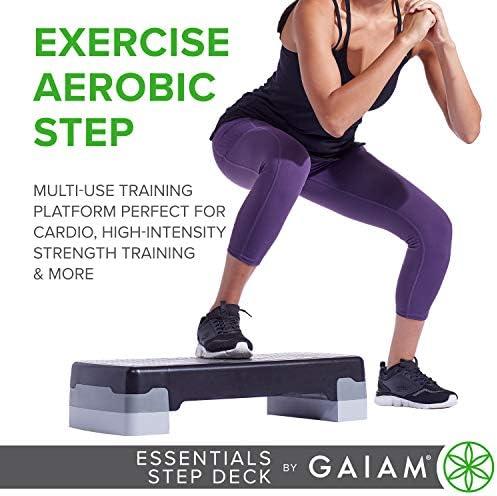 gaiam Essentials - Plataforma de Ejercicio aeróbico para escalones, Plataforma de Entrenamiento con Altura Ajustable y Superficie Texturizada Antideslizante 4