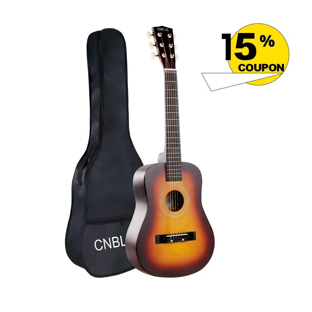 Acoustic Guitar Kid Beginner Guitar 30 Inch 1/2 Half Size Steel Strings Small Child Guitar Starter Kits Students Boy Girl Guitar
