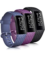 Tobfit Band Compatible with Fitbit Charge 4 Bands & Fitbit Charge 3 Bands, Classic Sport Wristbands Accessory Small Large Adjustable Replacement Strap for Fitbit Charge 4 & Fitbit Charge 3 & Fibit Charge 3 SE Fitness Tracker