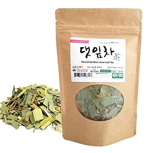[Medicinal Korean Herb] Bamboo Loose Leaf Tea (Zhuyecha/댓잎차) Dried Loose Leaves 57g (2oz)
