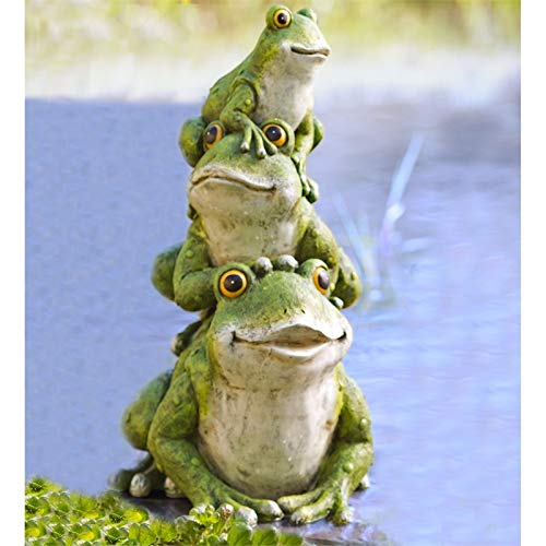 Stacked Frogs - New Creative Evergreen Garden Polystone Stacked Frogs Outdoor Garden Statue