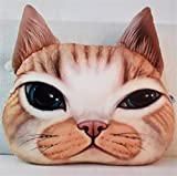 NUO-Z 3D Cushion - Bedside Nap Sleep Pillow Funny Cute Short Plush Cushion - Creative Personality Gift Plush Toys - Christmas Gift, Family, Hotel, Decoration, Chair, Bed,Car,Orange,L