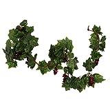 MonkeyJack Creative Artificial Grape Fake Vine Garlands Faux Fruit Wendding Leaf Ivy