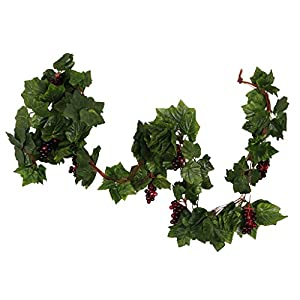 MonkeyJack Creative Artificial Grape Fake Vine Garlands Faux Fruit Wendding Leaf Ivy 6
