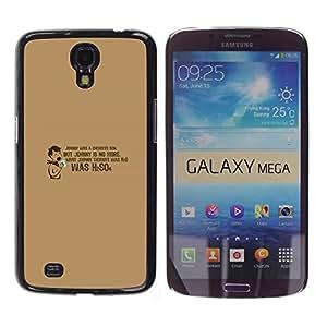 Qstar Arte & diseño plástico duro Fundas Cover Cubre Hard Case Cover para Samsung Galaxy Mega 6.3 / I9200 / SGH-i527 ( Chemistry Quote Funny Lab School H2O)