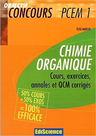 QCM CHIMIE ORGANIQUE PCEM1 EBOOK