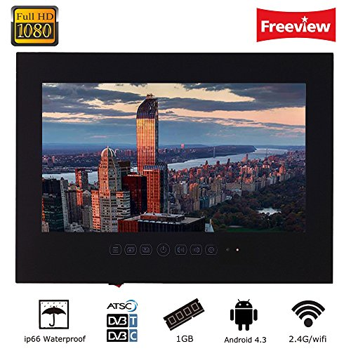 Soulaca 32 inch Black Android LED TV Waterproof Mounting T320FA-B