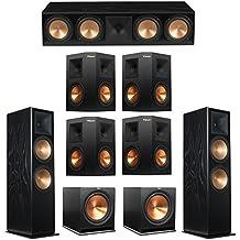 Klipsch 7.2 Black Ash System with 2 RF-7 III Floorstanding Speakers, 1 RC-64 III Center Speaker, 4 Klipsch RP-250S Surround Speakers, 2 Klipsch R-115SW Subwoofers
