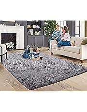 ACTCUT Super Soft Indoor Modern Shag Area Rugs Fluffy Rugs Anti-Skid Shaggy Area Rug Dining Room Home Bedroom Carpet Floor Mat