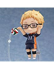 CUUGF 10CM Exquisite Limited Edition Haikyuu Kei Tsukishima Q Version Nendoroid Action Figures Toy Figurine Anime Figures Model Game Character Statue Toy Desktop Collections Decorations Kids Gift