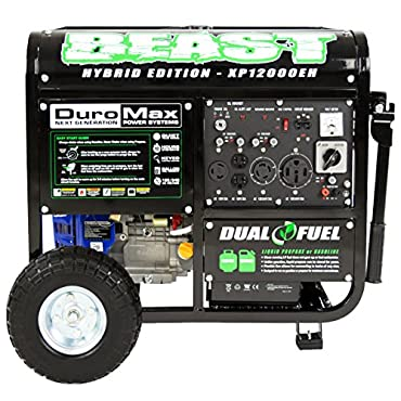 DuroMax XP12000EH Beast Hybrid Edition Dual Fuel Portable Generator