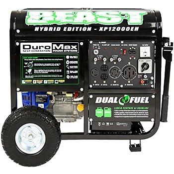 com duromax xpeh running watts starting duromax xp12000eh dual fuel portable generator
