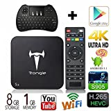 [Free Backlit keyboard + Mouse] Trongle S2 Android V5.1 TV BOX Amlogic S905 Quad Core BOX Google Streaming Media Player 4K IPTV 2.4/5GHz WiFi HDMI DLNA BT4.0