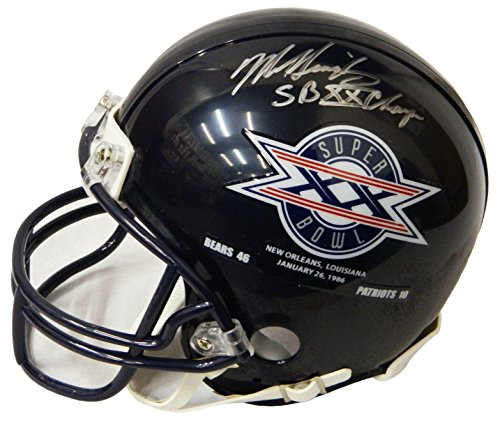 Riddell Champs Mini Helmet (Mike Singletary Signed Chicago Bears/SB XX Champs Logo Riddell Mini Helmet w/SB XX Champs)