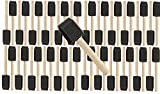 10 PK 1'' Wooden Handle Poly Foam Brushes 48 PC Set Great for Crafts, Touch ups, Art, Paints, Stains
