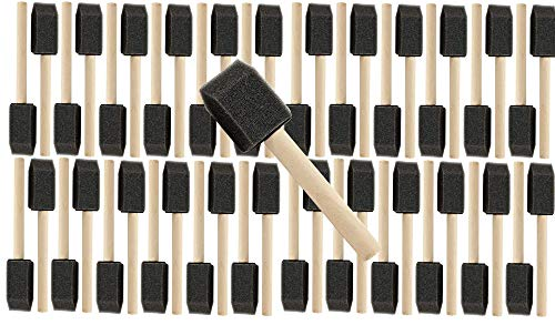 Pro Grade - Foam Brushes - 1 Inch 48 Piece Foam Brush Set