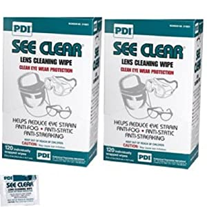 Pdi See Clear Eye Glass Cleaning Wipes 120/bx (Pack of 2)