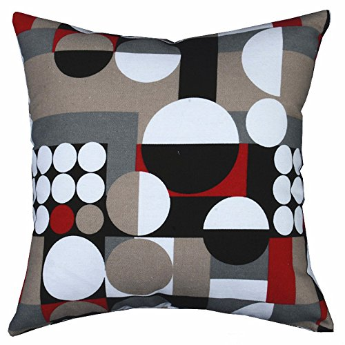 LivebyCare Multi-Sized Both Sides Geometric Round Printed Stuffed Throw Pillow PP Cotton Insert Filling Filled Cushion Pattern Zipper for Divan Divan Bed Car Seat