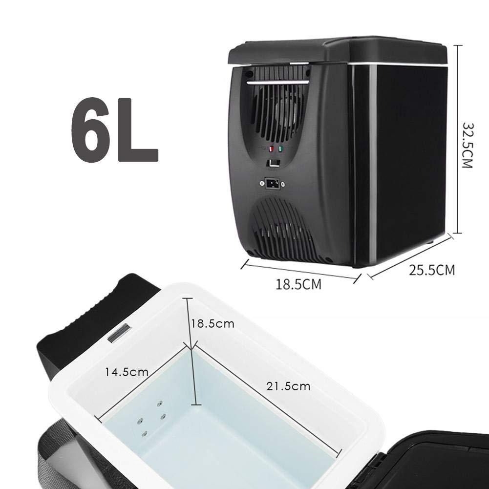 Viaggi Frigorifero per Auto Raffreddatore//congelatore a compressore Mini Portatile da 6 Litri con Funzione di Raffreddamento e Riscaldamento per Auto Camion e Campeggio