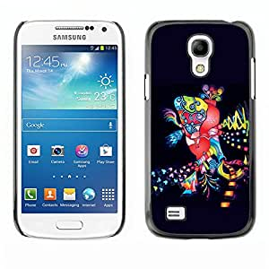 Qstar Arte & diseño plástico duro Fundas Cover Cubre Hard Case Cover para SAMSUNG Galaxy S4 mini VERSION! / i9190 / i9192 ( Dance Disco Lights Colorful Art Party City)