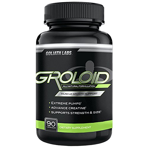 Goliath Labs Groloid - Improves Physicality and Enables Superior Muscle Growth - For Better Workouts - Contains 90 Capsules and 30 Servings