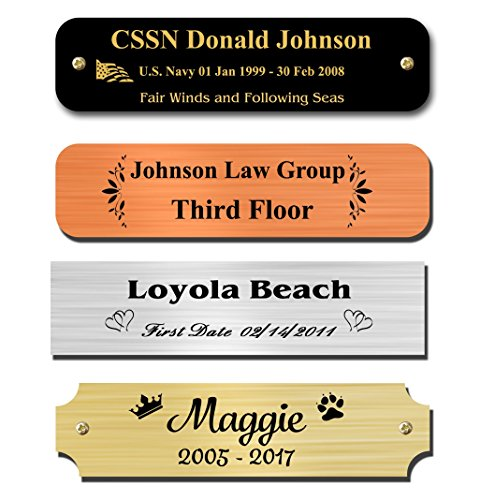 Metal Desk Nameplate - 0.875