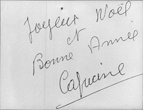 Vintage photo of Holiday greetings from Capucine.