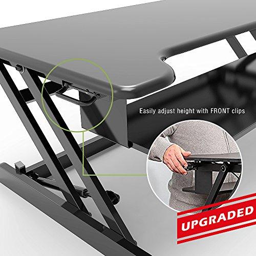 Standing Desk, Stand up Adjustable Desk Riser Converter for Desktop Laptop Dual Monitor by smugdesk (Image #4)