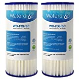 Waterdrop FXHSC Replacement Whole House Sediment Filter, Compatible with DuPont WFHDC3001,Pentek R50-BB,GE FXHSC,Culligan R50-BBSA and American Plumber W50PEHD (2 Pack)