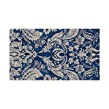 Laura Ashley Connemara 5' x 8' Jacquard Chenille Textured Area Rug, Navy