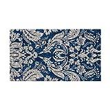 Laura Ashley Connemara 5′ x 8′ Jacquard Chenille Textured Area Rug, Navy For Sale