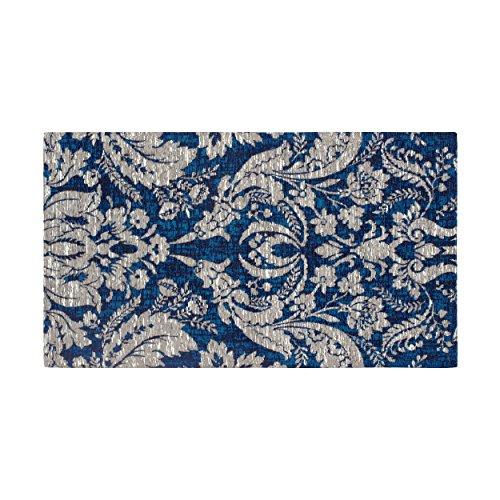 Laura Ashley Connemara 5 x 8 Jacquard Chenille Textured Area Rug, Navy