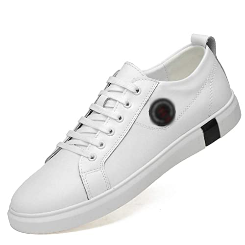 HPLL Zapato Zapatillas de Skate para Hombres, Deportes Ocasionales, Zapatillas de Negocios Negras, otoño, Impermeable al Aire Libre, 35-44.