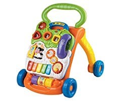 From baby steps to big steps the Sit-to-Stand Learning Walker by VTech helps your child develop from a crawler to a walker through adaptive technology.