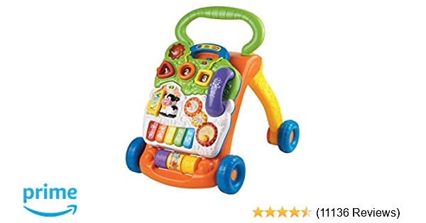 Amazon VTech Sit To Stand Learning Walker Frustration Free Packaging Toys Games