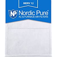 Nordic Pure 25x25x_1/2_M12-6 1/2-Inch Air Filter MERV 12, Box of 6