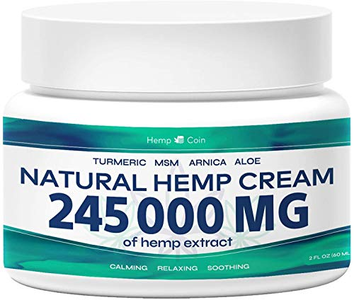Organic Hemp Pain Reliever, 245 000 Mg, Non-GMO, Natural Hemp Extract for Joint, Muscle, Back, Neck, Knee Pain, Made in…