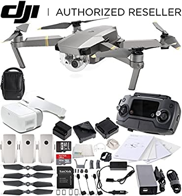DJI Mavic Pro Platinum FLY MORE COMBO Collapsible Quadcopter + DJI Goggles Virtual Reality VR FPV POV Experience Bundle by SSE
