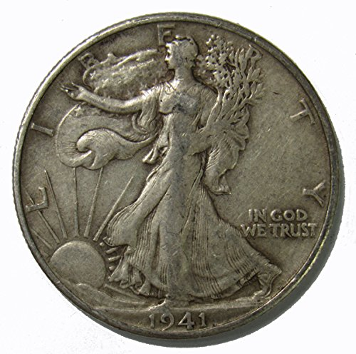 1941 S Walking Liberty Half Dollar 50c Very Fine
