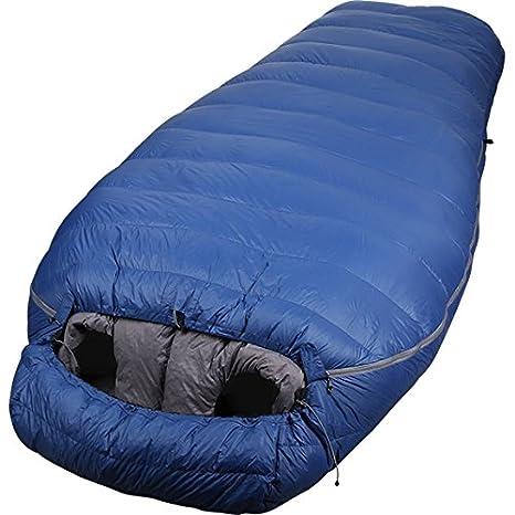 Splav saco de dormir doble Tandem de plumón ligero para dos personas - King Size cálido, Azul: Amazon.es: Deportes y aire libre