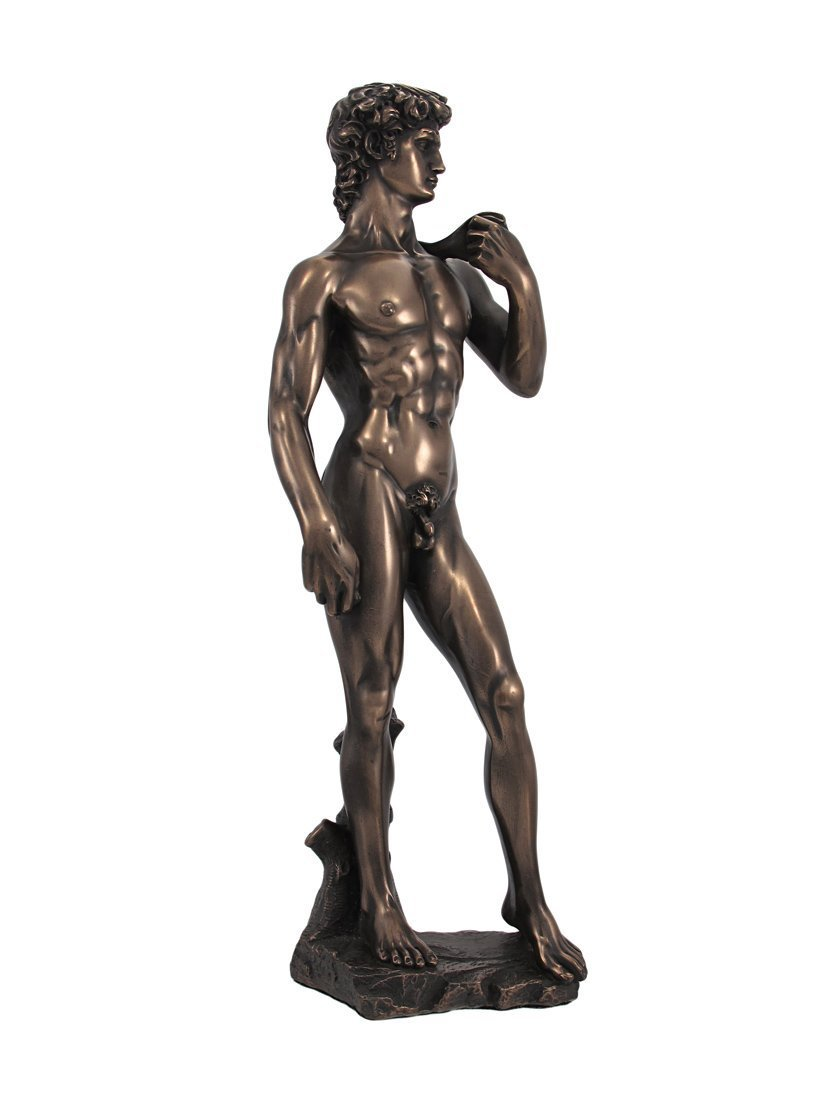 Michelangelo s David Bronzed Finish Statue Nude Sculpture