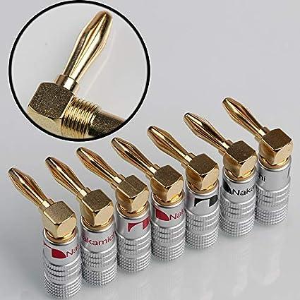 20pcs Nakamichi Speaker Audio 4mm Banana Plug Screw Cable Connector 24k Gold