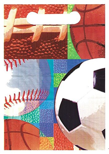 Sport Theme Design Party Loot Treat Bags - Pack of (Goody Loot Bags)