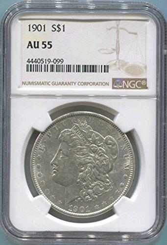 1901 P Morgan Dollar Dollar AU55 NGC