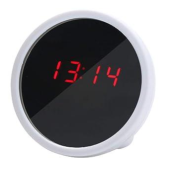 Astrryfarion Mini Reloj Digital de Escritorio Pantalla LED Espejo ...