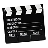 TOYMYTOY Wooden Director's Clapper Board Film Movie Clapboard Kids Toy