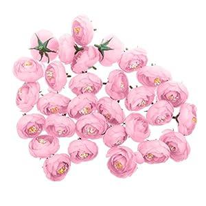 Jili Online Pack of 30pcs Artificial Camellia Flower Craft Silk Heads Wedding Decor 12 Colors - Pink, 4cm 84