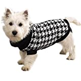 East Side Collection 8-Inch Acrylic Oxford Houndstooth Dog Sweater, XX-Small, Black/White Review