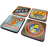 "The Simpsons CSP0023 Multi Coloured 10 x 10cm"" Moes Taven 4 Coaster Set"