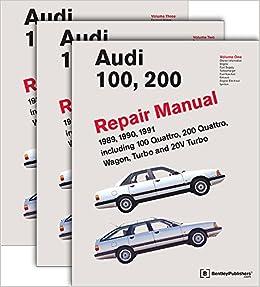 Audi 100, 200 Repair Manual--1989-1991: Including 100 Quattro, 200 Quattro, Wagon, Turbo and 20-Valve Models: Pt. 1: Amazon.es: Audi of America: Libros en ...